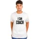 I CAN COACH - Unisex Round Neck White Tshirt