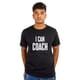 I CAN COACH - Unisex Round Neck Black Tshirt