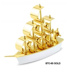 Table Top Ship Gold And Silver