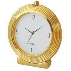 Round Clock Gold