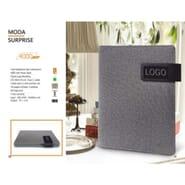 Moda Surprise Multipurpose Notebook with 4000 mAh Powerbank