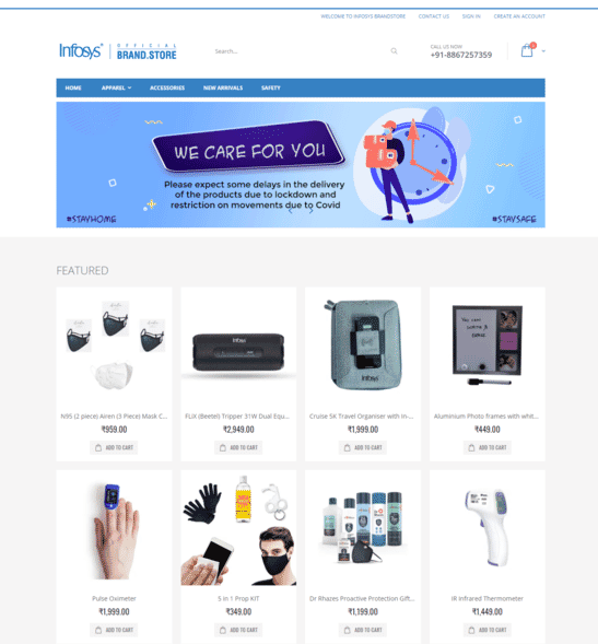 Infosys BrandStore - Official Brandstore by offiNeeds