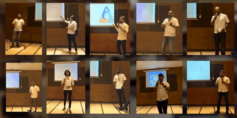 Business presentation in Offineeds team
