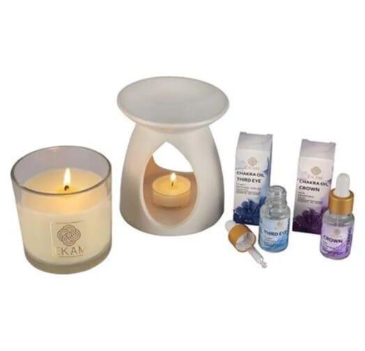 Aromatherapy Gift Set With Chakra Series Oil