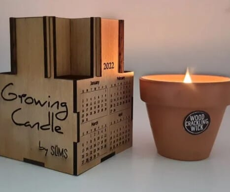 Calendar Candle Slims