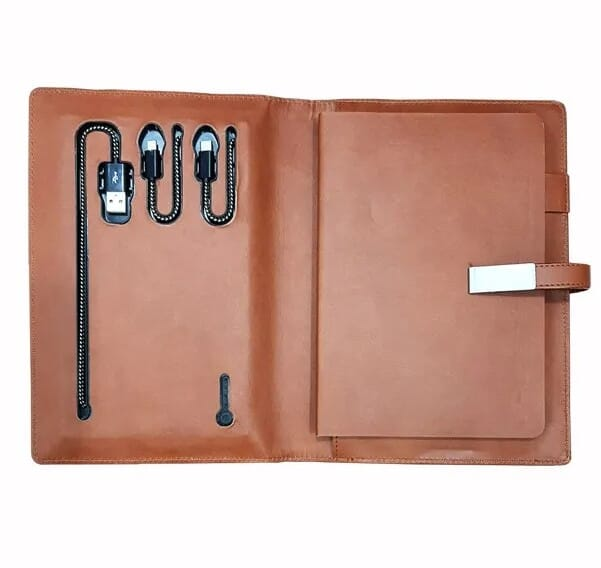 Diary 10000mAh Power Bank With 16gb Pendrive - Powerbank for Corporate Gifting by OffiNeeds.com