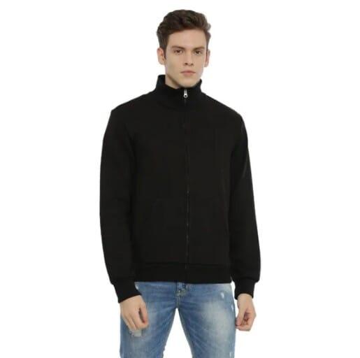 Fleeze High Neck Men's Zipper Sweatwear