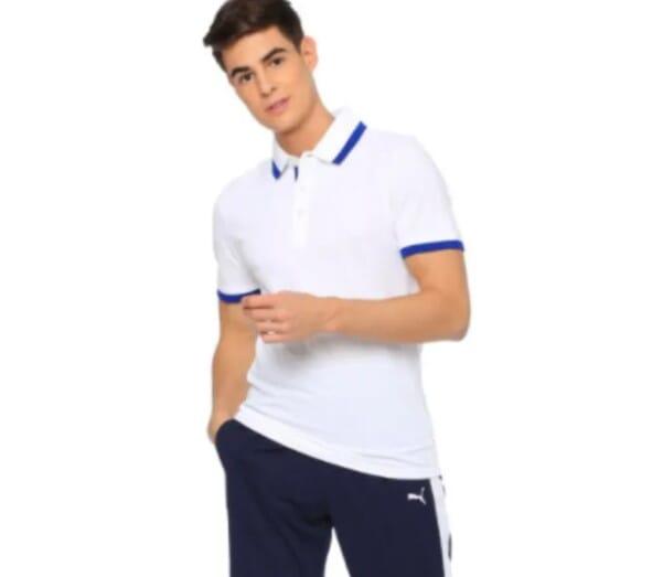PUMA ESS Pique Tipping Polo T-Shirt