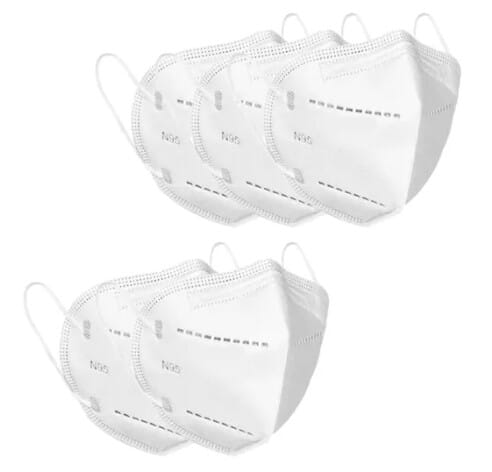 Set of 5 N95 Mask (White) - Safety Products for Corporate Gifting by OffiNeeds.com