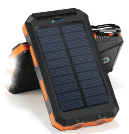 Solar Power Bank 10000mAh - Powerbank for Corporate Gifting by OffiNeeds.com