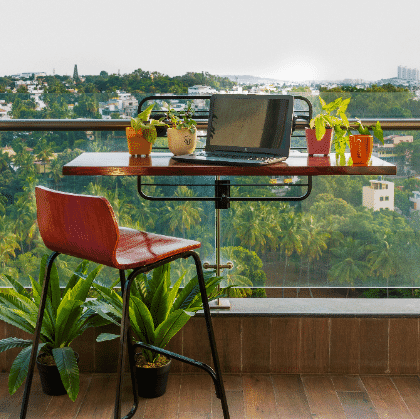 The Multi Purpose Balcony ledge Table - Ergonomic Products by OffiNeeds